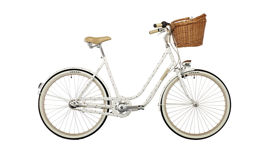 "Creme Molly Chic Citybike 26"" 3-speed hvid"